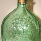"Light Green ""LIBERTY"" Collector's Bottle & Stopper"