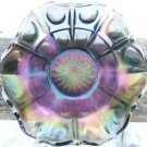VINTAGE CARNIVAL GLASS CANDY DISH with RUFFLED EDGE