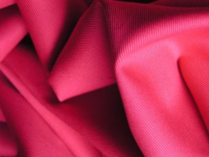 2 Y Organic Cotton Twill  Drapery Bedding Fabric Soft Silky HIBISCUS HOT PINK