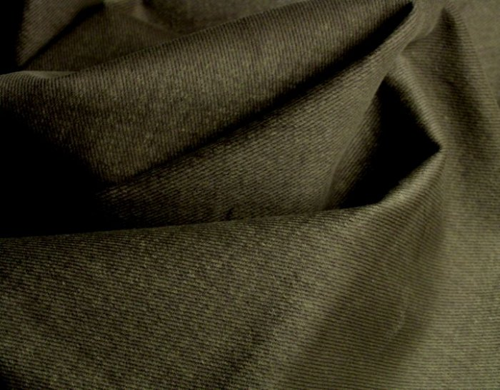 10 Y Olive Green Twill Denim Slipcover Upholstery Fabric