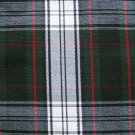 "BLACK GREEN WHITE RED TARTAN PLAID FABRIC 60"" WIDE"