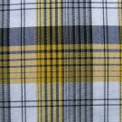 "BLACK YELLOW WHITE TARTAN PLAID FABRIC 60"" WIDE"