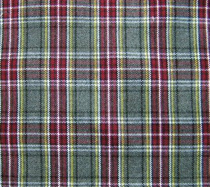 Gray Burgundy White Plaid Tartan Fabric 60 Quot Wide