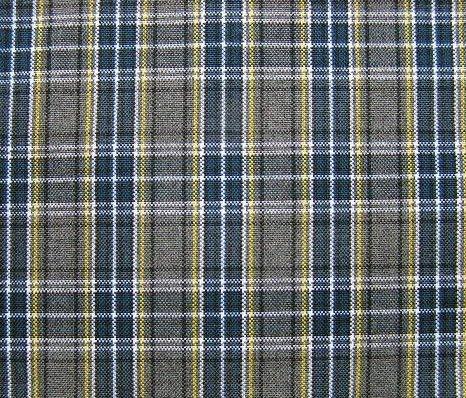 Gray Blue White Yellow Tartan Plaid Fabric 60 Quot Wide
