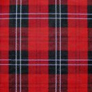 "25 YARDS RED BLACK TARTAN PLAID FABRIC 60"" WIDE"