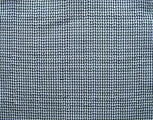 "20 Y NAVY BLUE WHITE HOUNDSTOOTH CHECK PLAID FABRIC 60"" WIDE"
