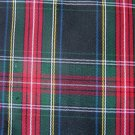 "5 Y STEWART BLACK TARTAN PLAID FABRIC 60"" WIDE"