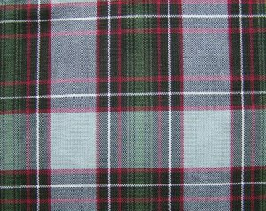"10 YARDS GRAY GREEN RED TARTAN PLAID FABRIC 60"" WIDE"