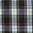 "3 YARDS BLACK WHITE RED TARTAN PLAID FABRIC 60"" WIDE"
