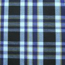 "3 YARDS BLACK WHITE PURPLE TARTAN PLAID FABRIC 60"" WIDE"