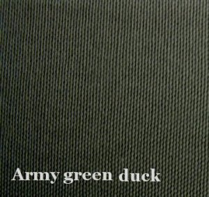 10 y Cotton Canvas Duckcloth Upholstery Fabric ARMY GREEN