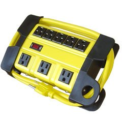 8 Outlet Yellow Strip Heavy Duty