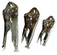 3 Pcs Locking Plier Curved Jaw Set