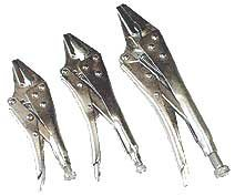 3 Pcs Locking Plier Long Nose Set