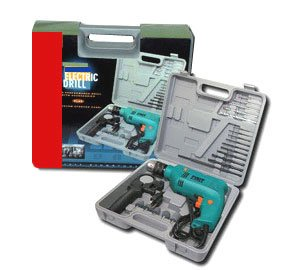 Half Inch Impact Hammer Drill Kit With Case