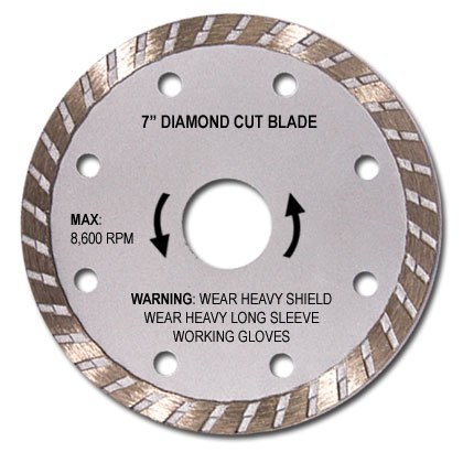 "7"" Diamond Wet Or Dry Cutting Blade"