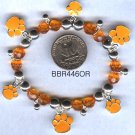 Orange Paw Print Bracelet