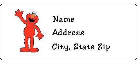 This is a photo of Zany Sesame Street Return Address Labels