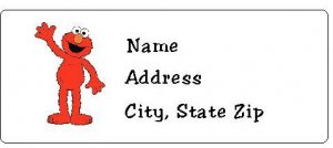 30 Personalized Sesame Street Elmo Return Address Labels