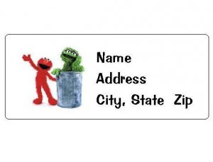 30 Personalized Sesame Street Elmo and Grouch Return Address Labels