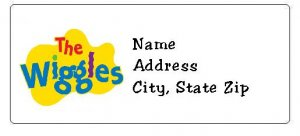 30 Personalized Wiggles Return Address Labels