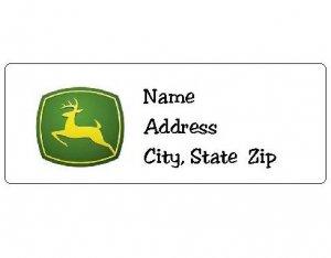 30 Personalized John Deere Return Address Labels