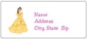 30 Personalized Disney Princess Belle Return Address Labels