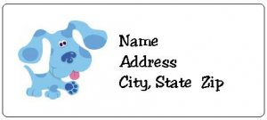 30 Personalized Blues Clues Return Address Labels