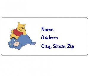 30 Personalized Winnie the Pooh and Eeyore Return Address Labels