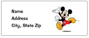 30 Personalized Micky Mouse Return Address Labels