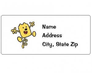 30 Personalized Wow Wow Wubbzy Return Address Labels