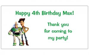 10 Personalized Toy Story Party Goody Bag Labels