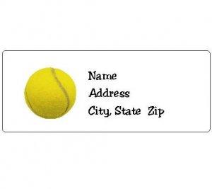 30 Personalized Tennis Ball Return Address Labels