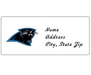 30 Personalized NFL Carolina Panthers Return Address Labels