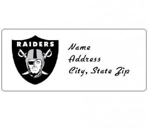30 Personalized NFL Oakland Raiders Return Address Labels