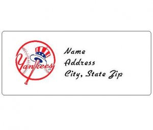 30 Personalized MLB New York Yankees Address Labels