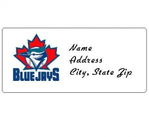 30 Personalized MLB Toronto Blue Jays Address Labels
