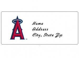 30 Personalized MLB Los Angeles Angels Address Labels