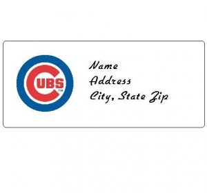 30 Personalized MLB Chicago Cubs Address Labels