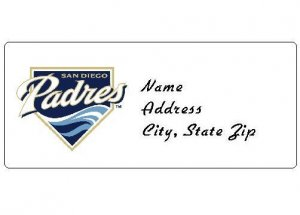 30 Personalized MLB San Diego Padres Address Labels