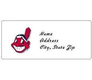 30 Personalized MLB Cleveland Indians Address Labels