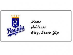 30 Personalized MLB Kansas City Royals Address Labels