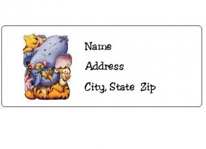 30 Personalized Winnie the Pooh and Friends Return Address Labels