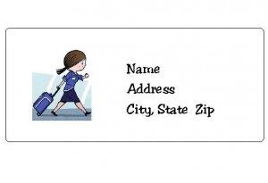 30 Personalized Flight Attendant Return Address Labels