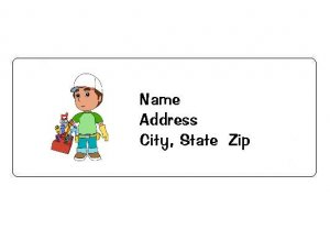 30 Personalized Handy Manny Return Address Labels