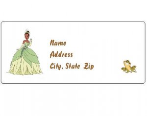 30 Personalized Disney Princess and the Frog Return Address Labels