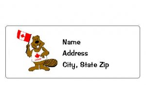 30 Personalized Canada Beaver Return Address Labels