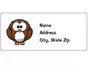 30 Personalized Owl Return Address Labels
