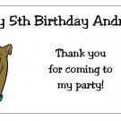 10 Personalized Scooby-Doo Party Goody Bag Labels