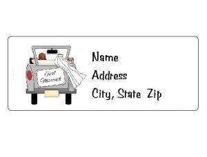 30 Personalized Just Married Wedding Return Address Labels